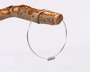 Bangle with Hoops - Recycled Sterling Silver
