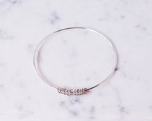 Load image into Gallery viewer, Bangle with Hoops - Recycled Sterling Silver