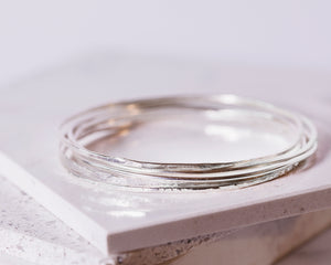 Sterling Silver Bangle Bundle \\ Eco Silver//