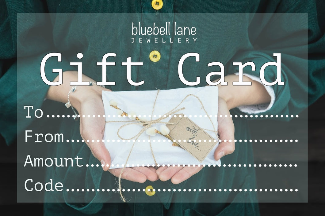 Bluebell Lane Jewellery Gift Card