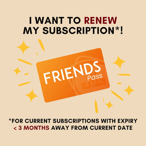 FRIENDS Pass Subscription Renewal