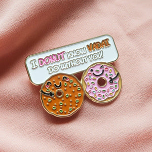 I Donut Know Vadai Do Without You! - Food Pun Hijab Brooch