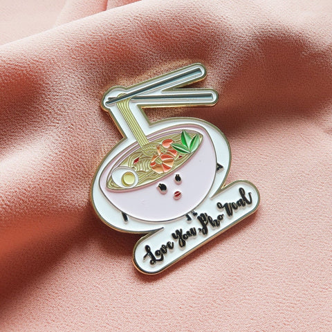Love you Pho Real - Food Pun Hijab Brooch