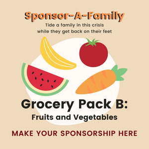 [Sponsor-A-Family] Grocery Pack B: Fruits and Vegetables (long-lasting)