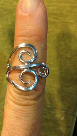Cocktail Fork Ring