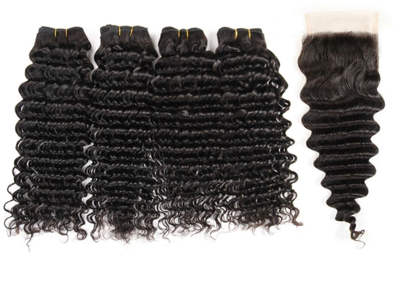 Dubai Deep Wave 4 Bundles w/ Closure - a-girls-best-friend-hair-co