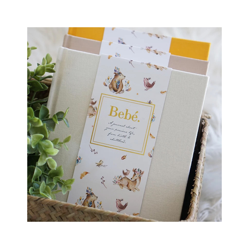 Bebe Baby to Adulthood Journal - Amber (Velvet Pouch) - UrbanBaby shop