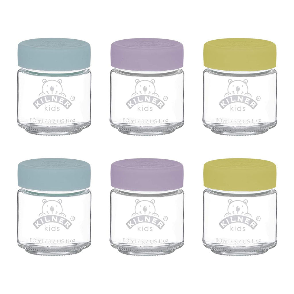 Kilner Kids Glass Jar 6pk - 110ml - UrbanBaby shop