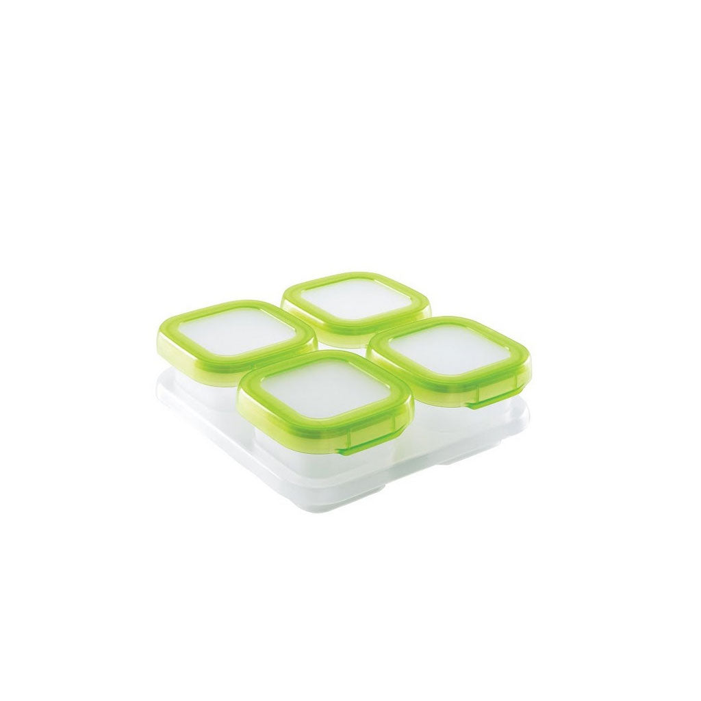 OXO tot Baby Blocks Freezer Storage Containers 120ml Green