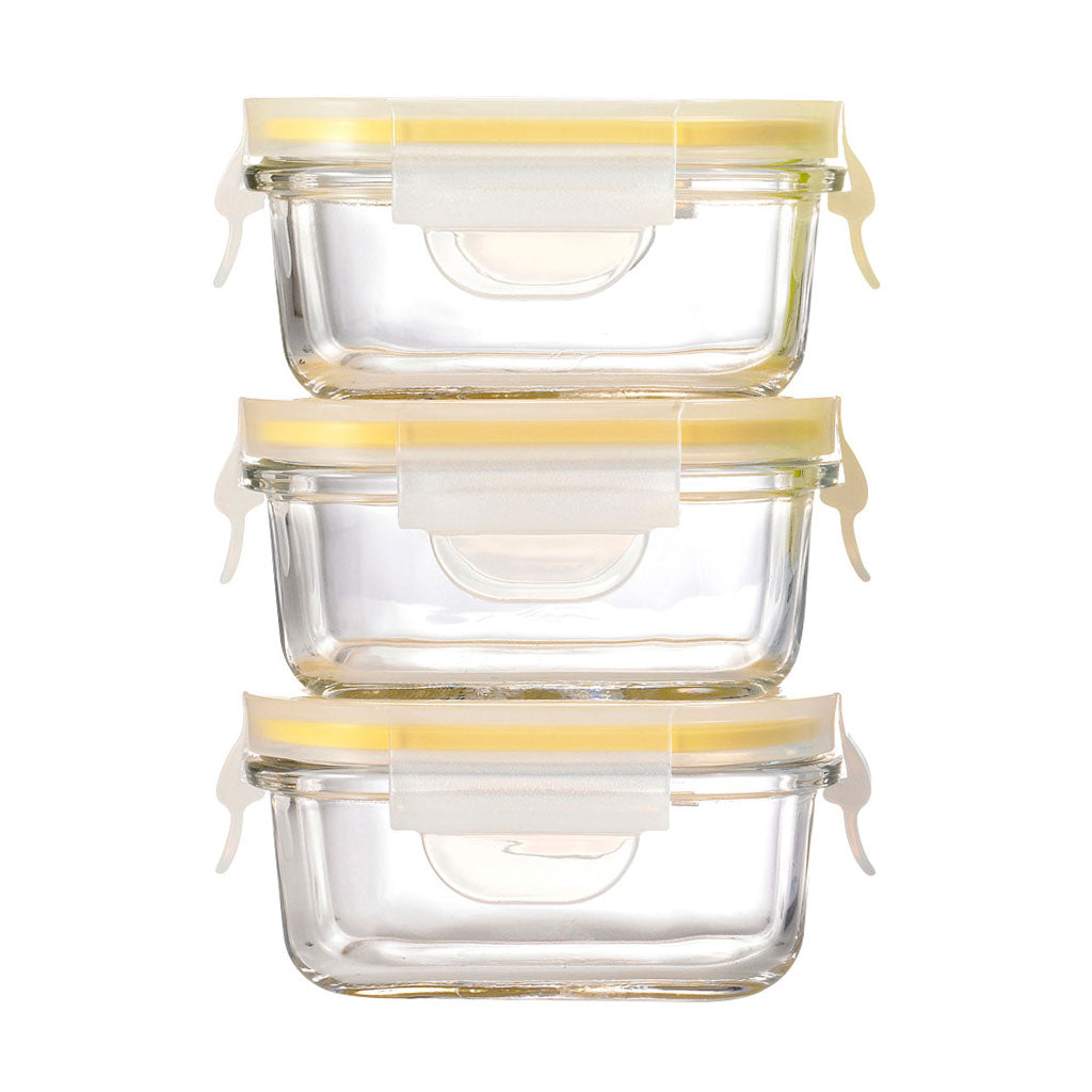 Glasslock 3pc Baby Food Container 150ml - UrbanBaby shop