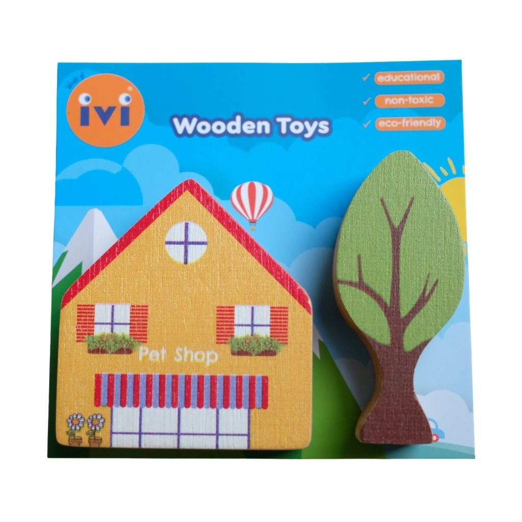 IVI Wooden Accessory Set - Pet Shop - UrbanBaby shop