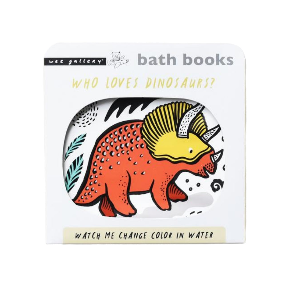 Wee Gallery Bath Book Who Loves Dinosaurs - UrbanBaby shop