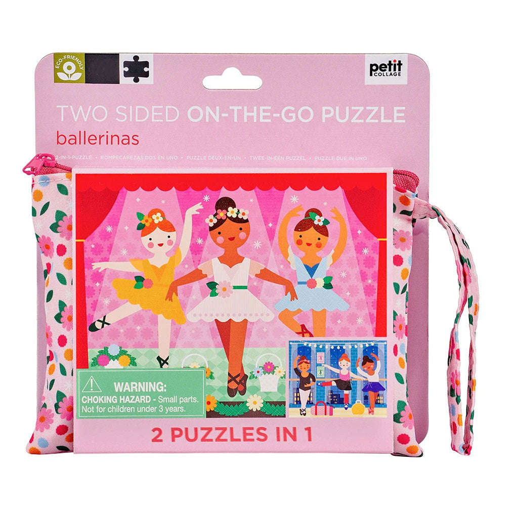 Petit Collage Two-Sided On The Go Puzzle - Ballerina