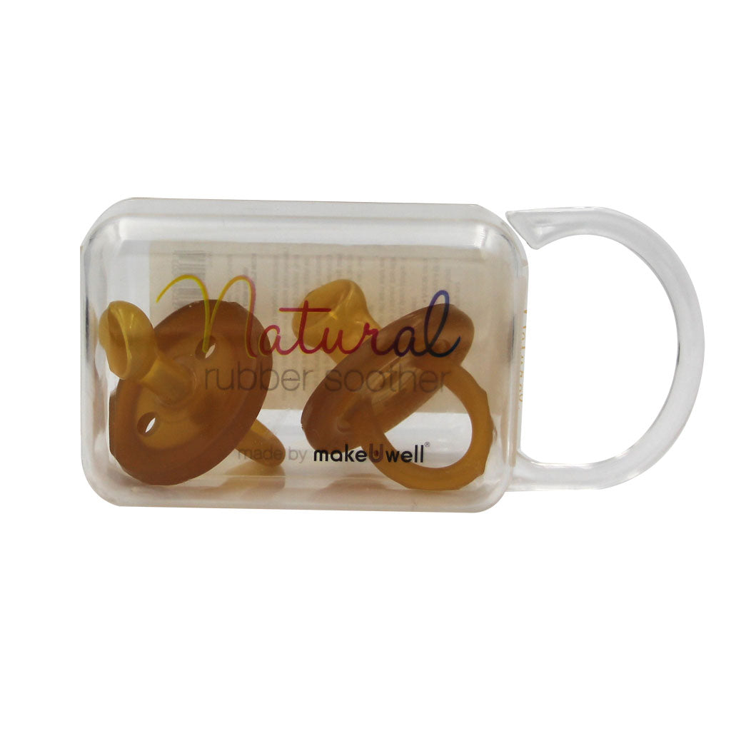 Natural Rubber Soother Orthodontic - Twin Pack