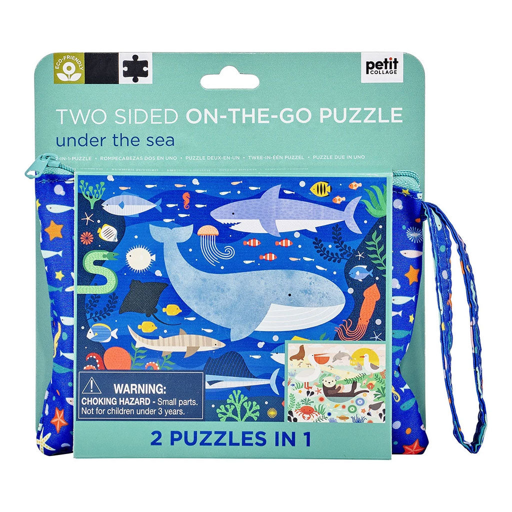 Petit Collage Two-Sided On The Go Puzzle - Under the Sea