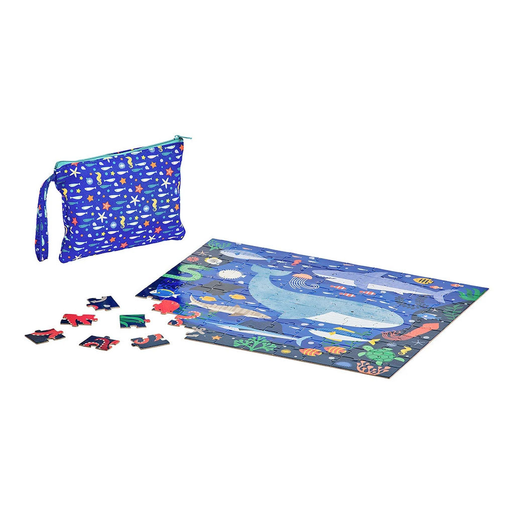 Petit Collage Two-Sided On The Go Puzzle - Under the Sea - UrbanBaby shop