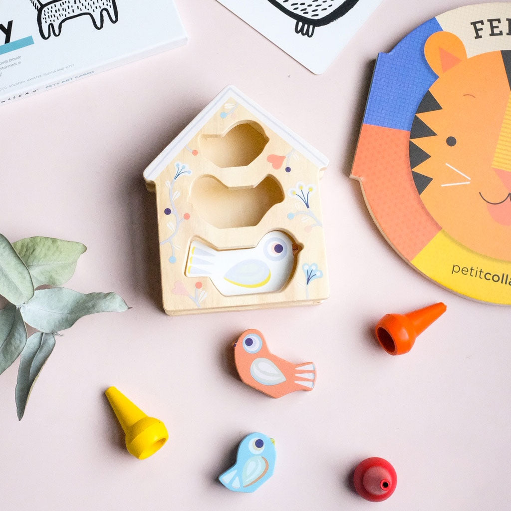 Djeco Baby Birdi Wooden Shape Sorter - UrbanBaby shop