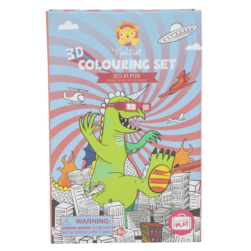 Tiger Tribe 3D Colouring Set - Sci Fi Fun - UrbanBaby shop