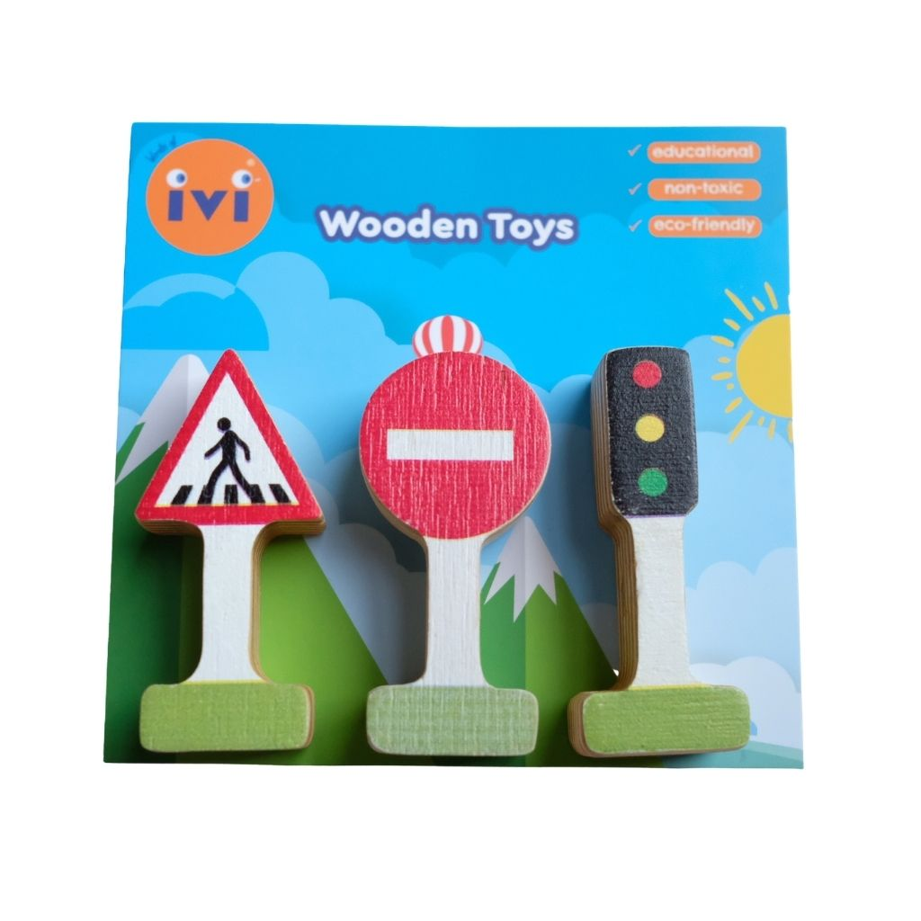 IVI Wooden Accessory Set - Road Signs - UrbanBaby shop
