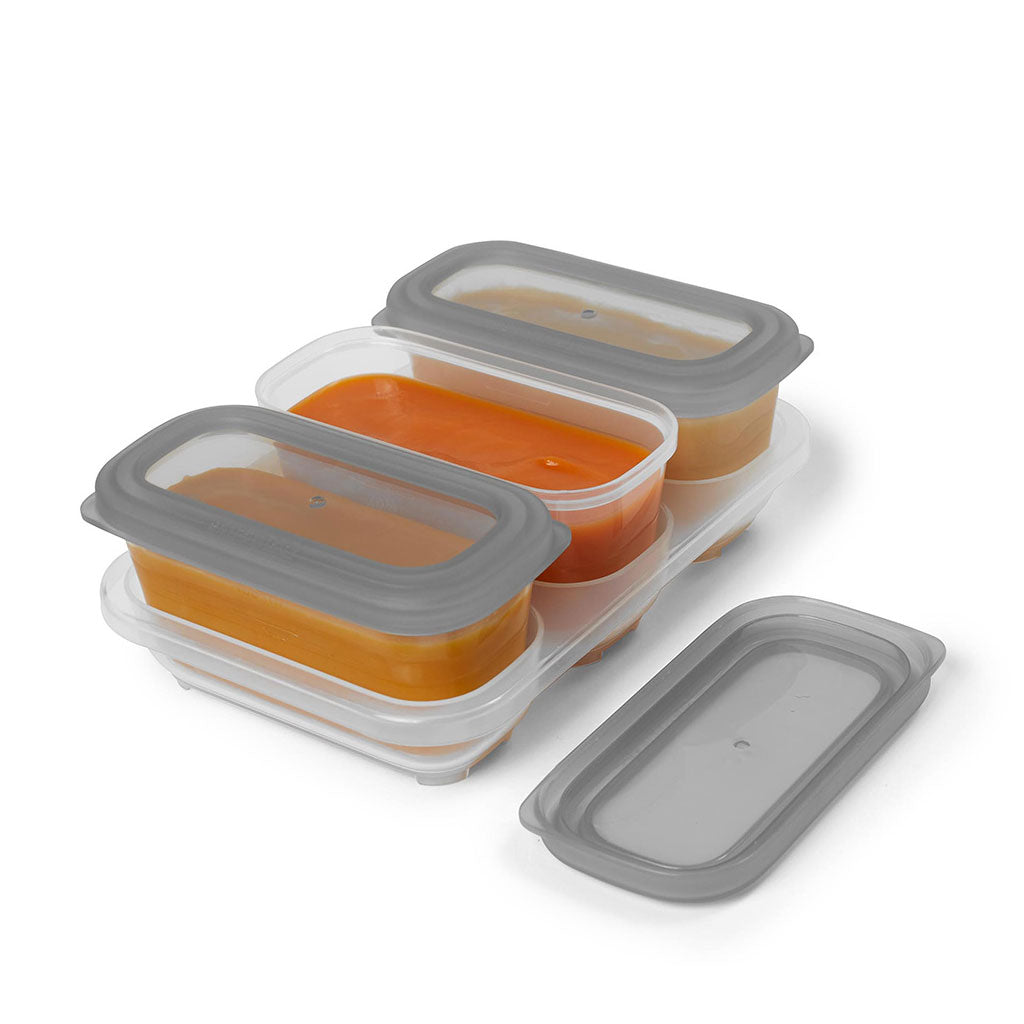 Skip Hop Easy Store 6oz Containers - Grey - UrbanBaby shop