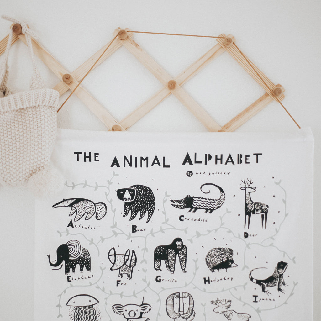Wee Gallery Organic Animal Alphabet Wall Hanging