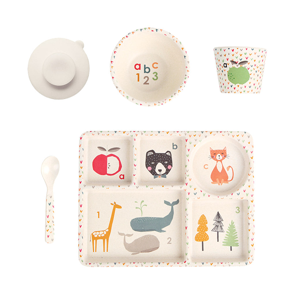 Love Mae 5pc Plant Based Dinner set ABC