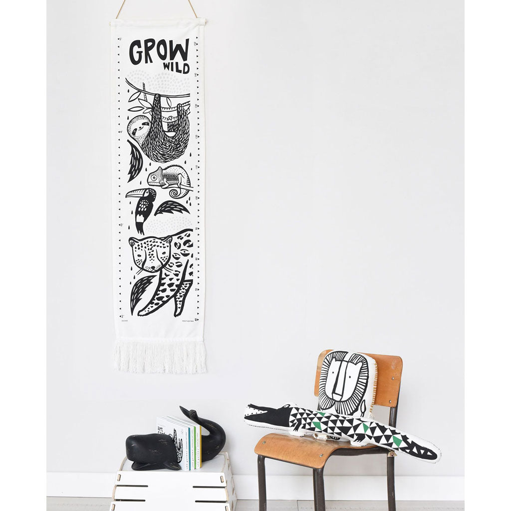 Wee Gallery Canvas Growth Chart Rainforest