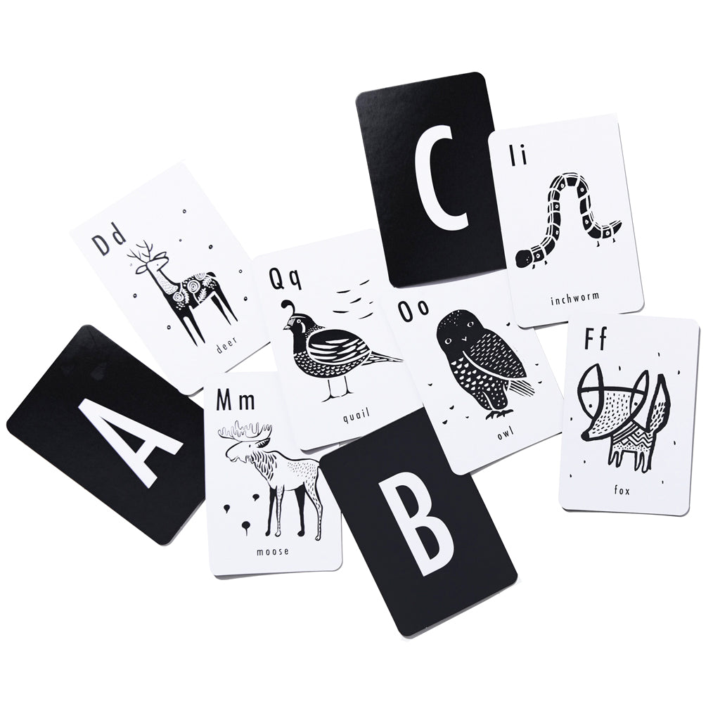 Wee Gallery Alphabet Cards - Animals - UrbanBaby shop