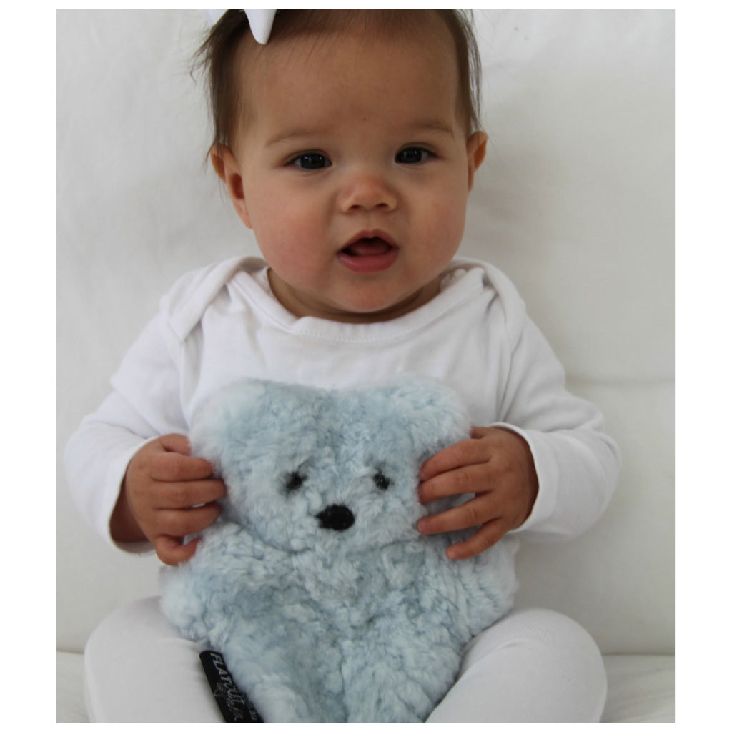 FLATOUT Sheepskin Bear - Baby Blue - UrbanBaby shop
