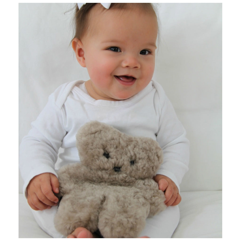 FLATOUT Sheepskin Bear Baby Latte - UrbanBaby shop