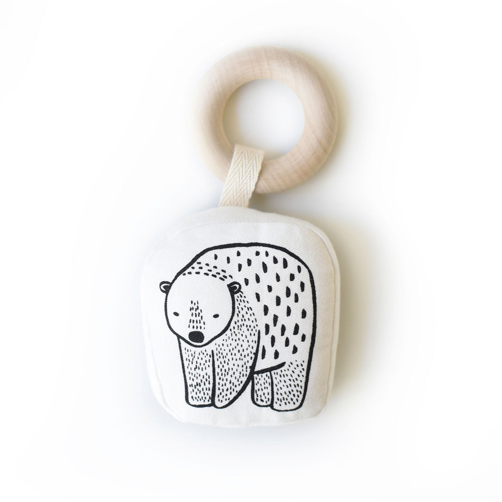 Wee Gallery Organic Teether Bear - UrbanBaby shop