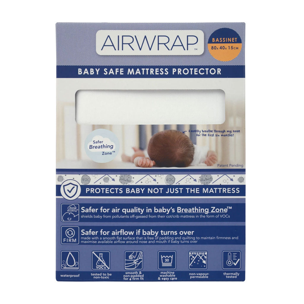 Airwrap Baby Safe Mattress Protector - Bassinet