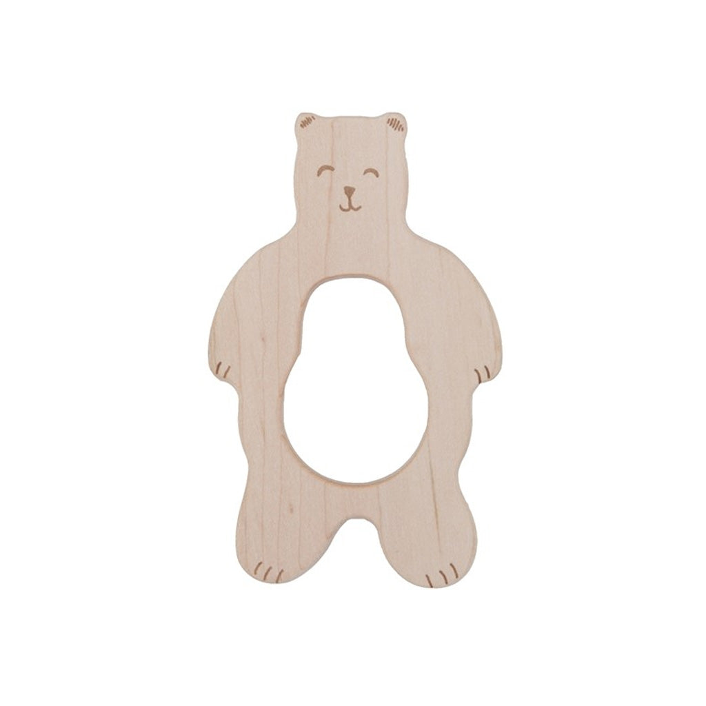 Wooden Story Soother - Smiley Bear