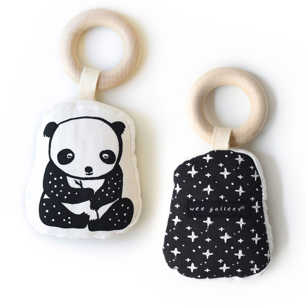 Wee Gallery Organic Teether Panda - UrbanBaby shop