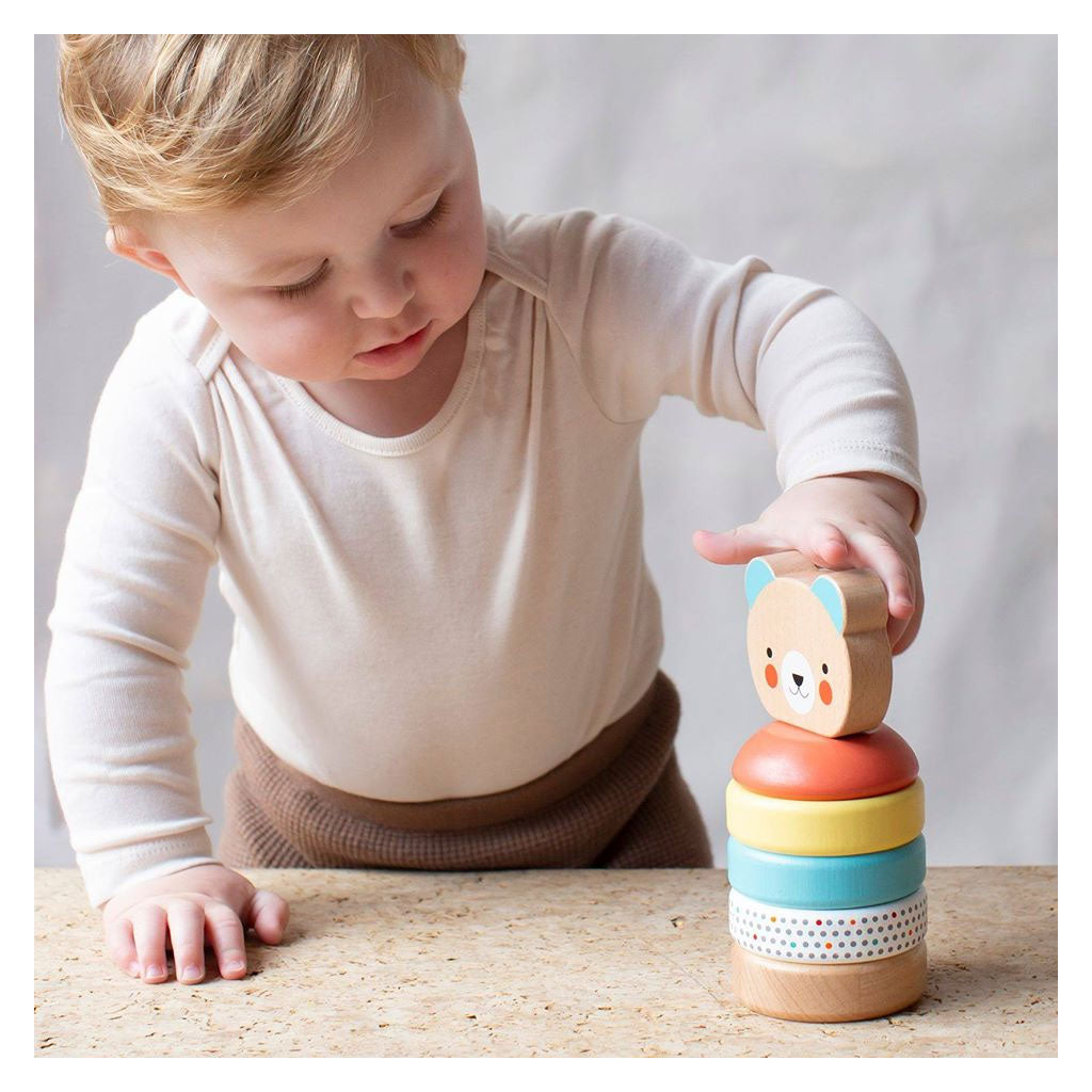 Petit Collage Wooden Bear Stacker - UrbanBaby shop