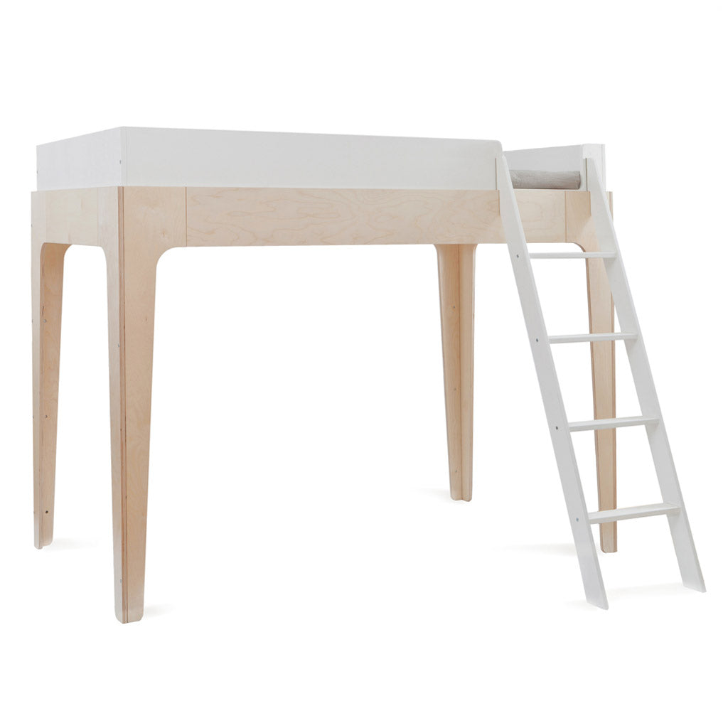 Oeuf Perch Single Loft Bed - Birch/White