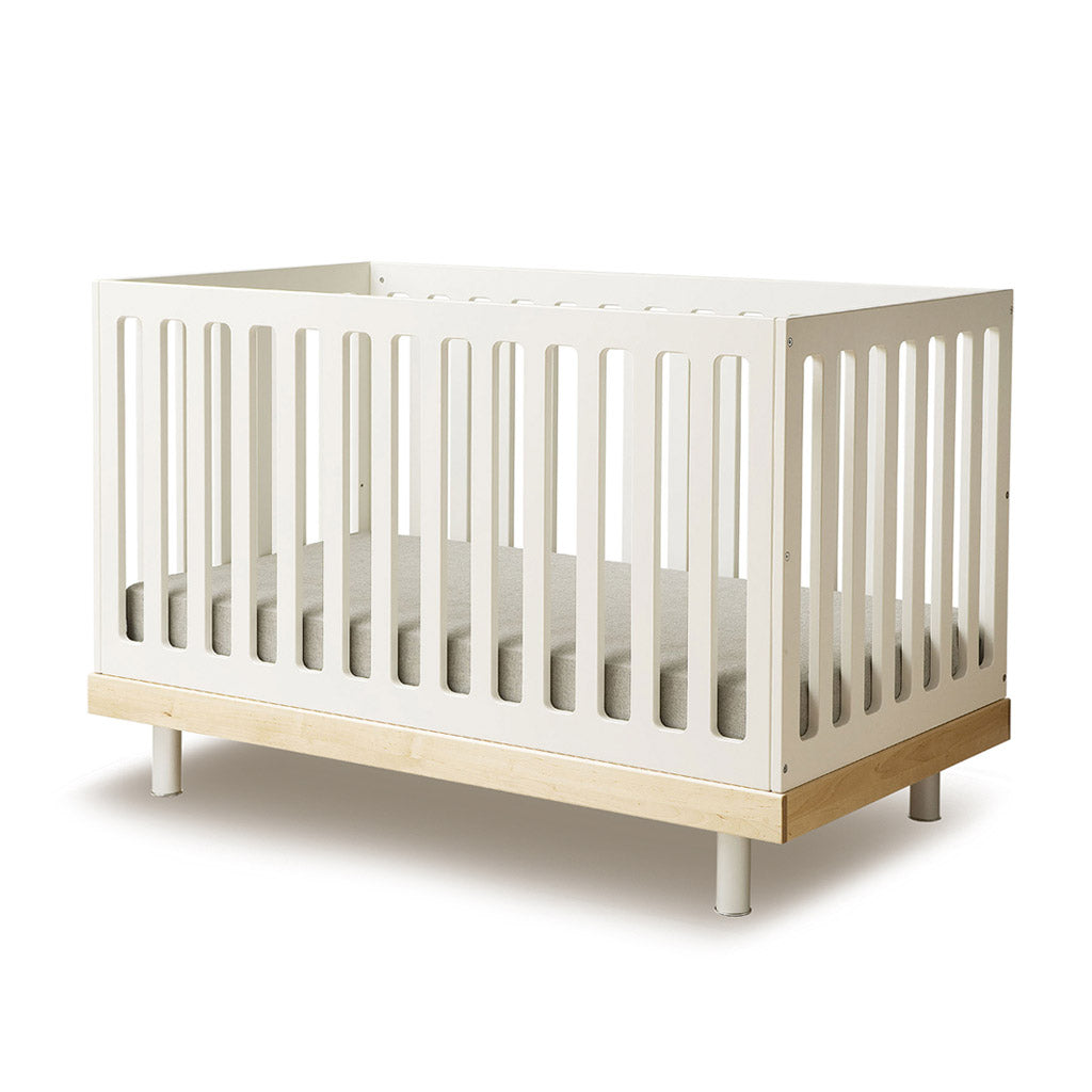 Oeuf Classic Cot - White w Birch - UrbanBaby shop