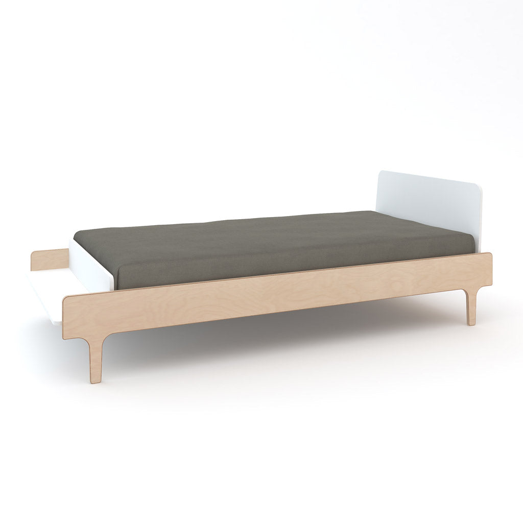 Oeuf River Single Bed - Birch/White