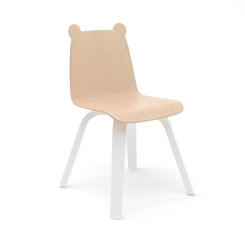 Oeuf Bear Play Chair Set of 2 - Birch/White