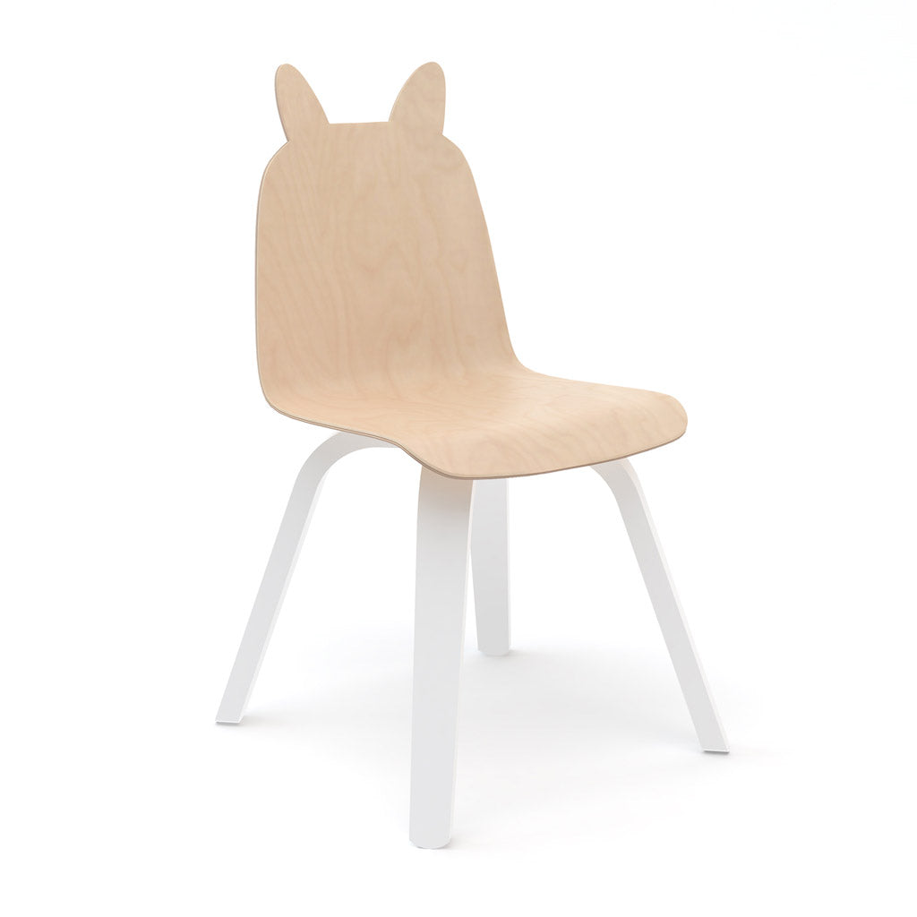 Oeuf Bunny Play Chair Set of 2 - Birch/White