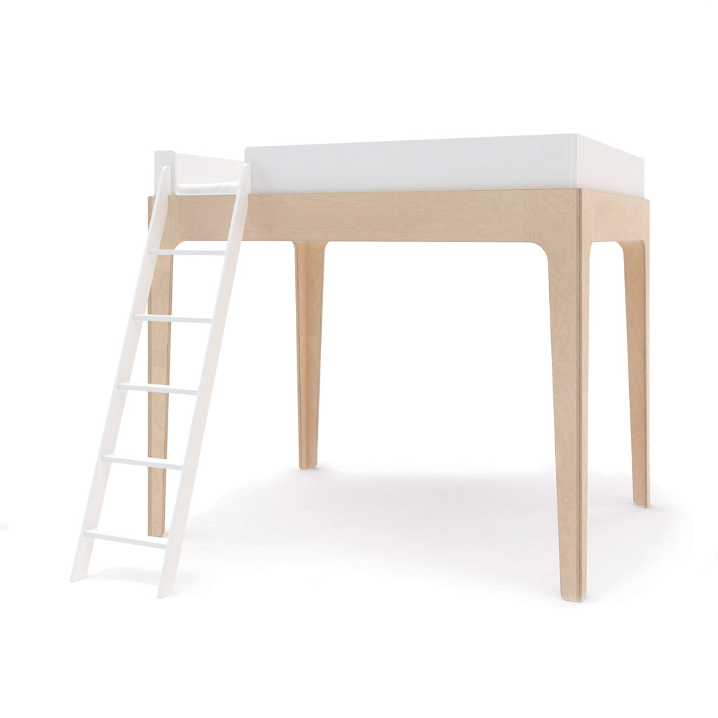 Oeuf Perch Double Loft Bed - Birch/White