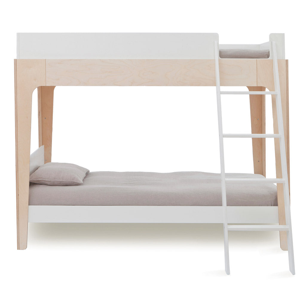 Oeuf Perch Single Bunk Bed - Birch/White
