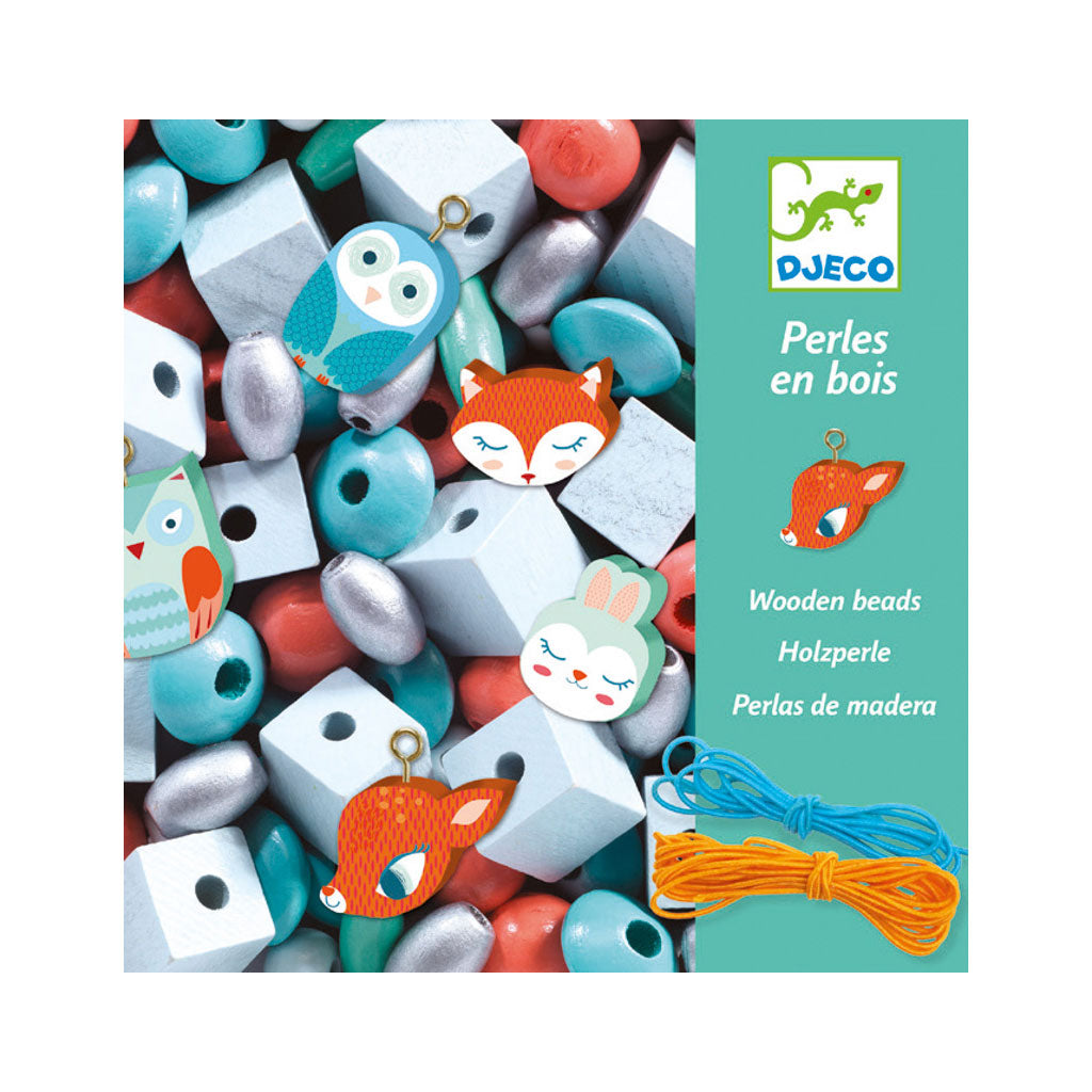 Djeco Wooden Beads - Woodland Animals - UrbanBaby shop