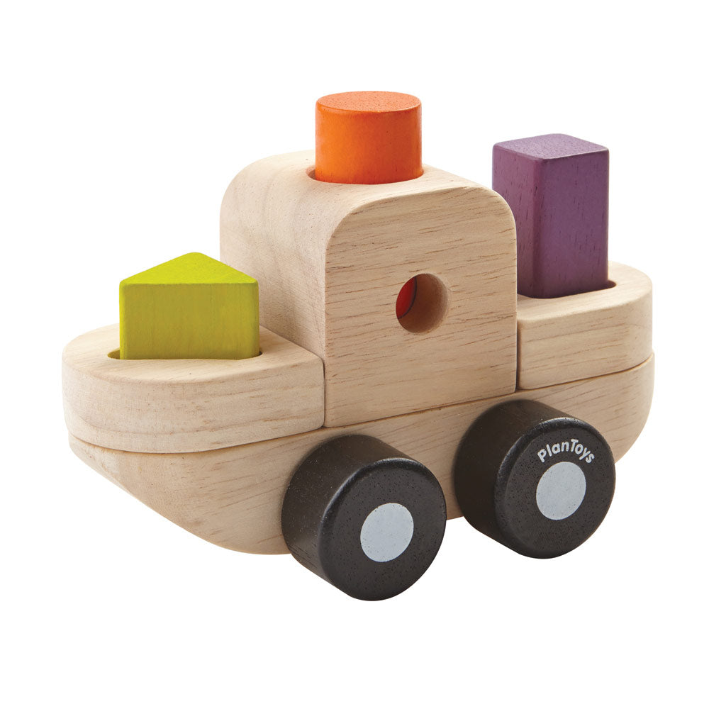 Plan Toys - Sorting Puzzle Boat - UrbanBaby shop