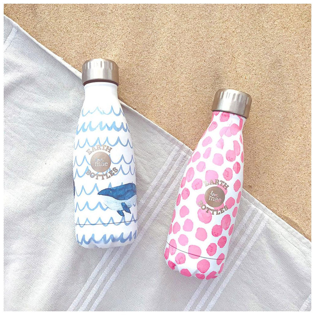 Love Mae Drink Bottle Polkadots