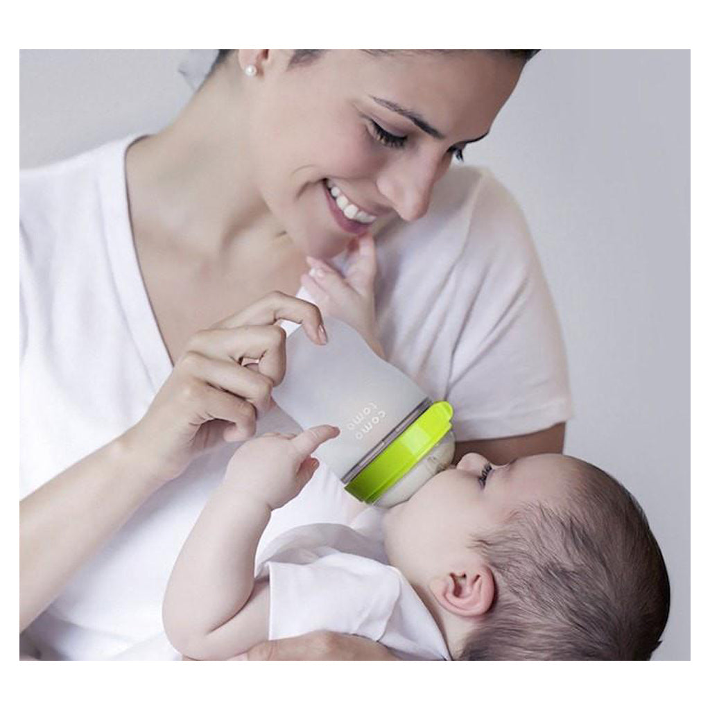 Comotomo Silicone Baby Bottle 250ml 2pk Green - UrbanBaby shop