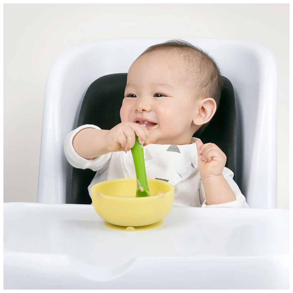OlaBaby Suction Bowl with Lid Lemon - UrbanBaby shop
