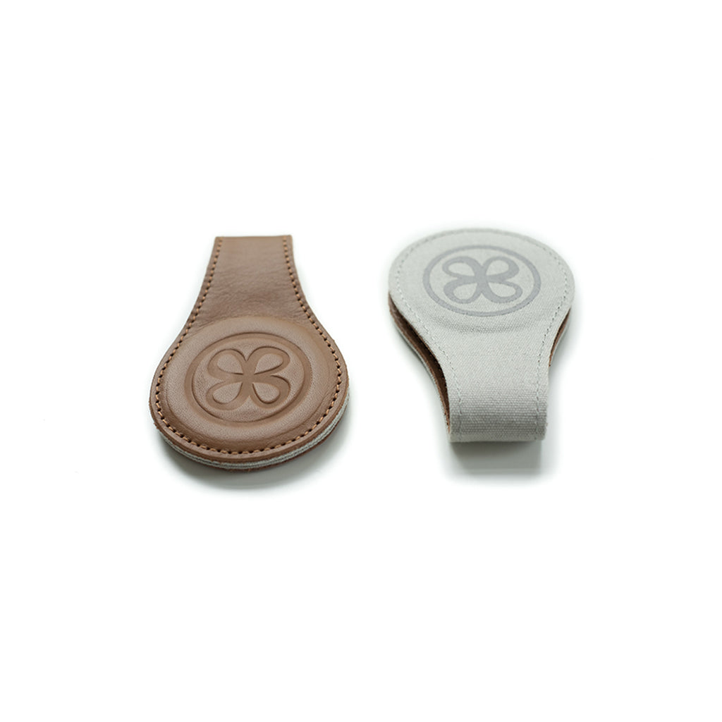 Cloby Leather Pram Clips - Brown