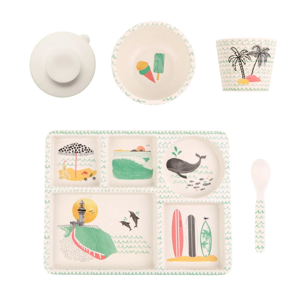 Love Mae 5pc Bamboo Dinner Set Byron