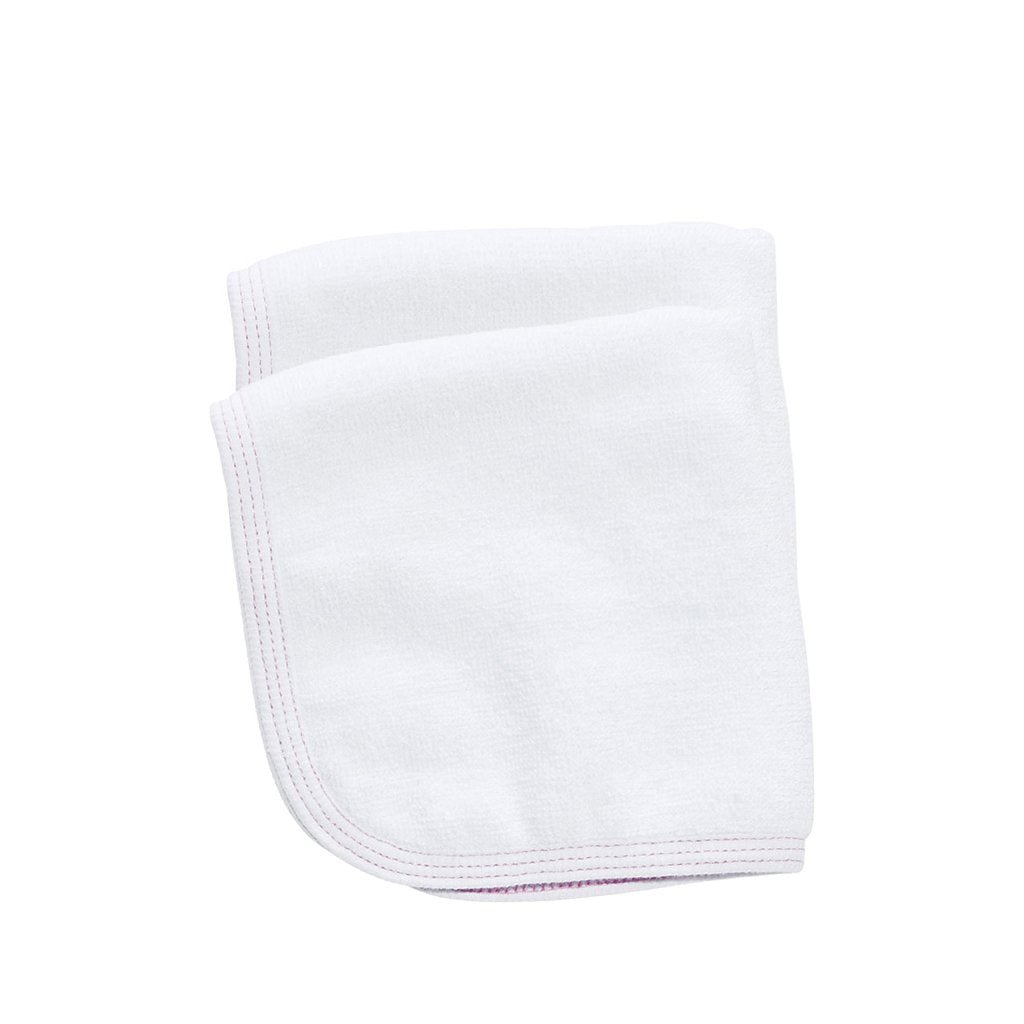 Babu Organic Cotton Terry Towel Face Cloth Set Pink Detail - UrbanBaby shop